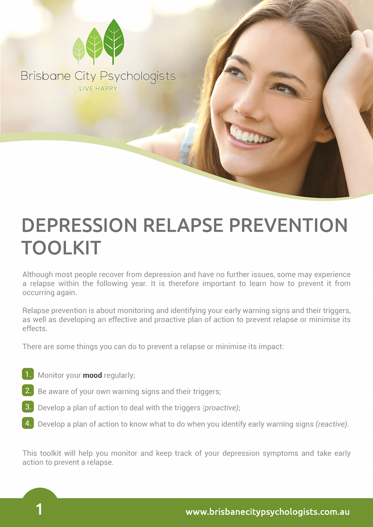 Depression Relapse Prevention Toolkit - Brisbane City Psychologists